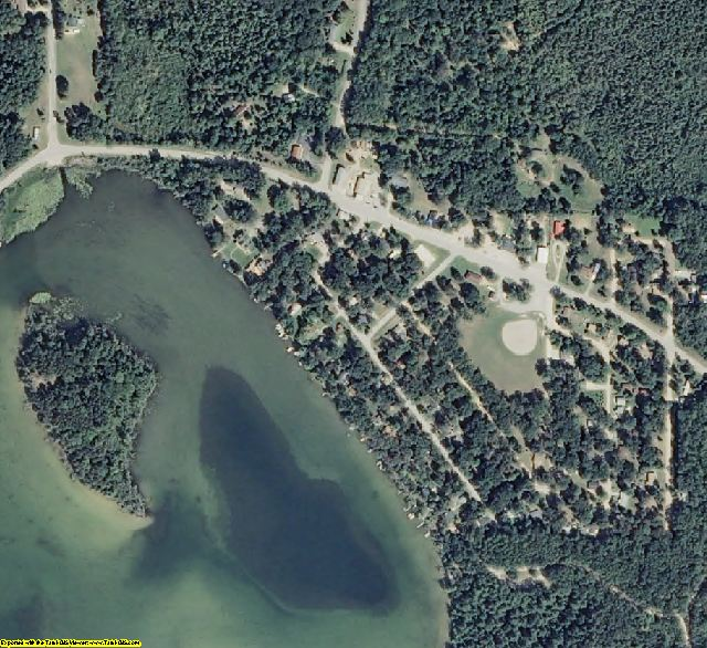Alcona County, MI aerial photography detail