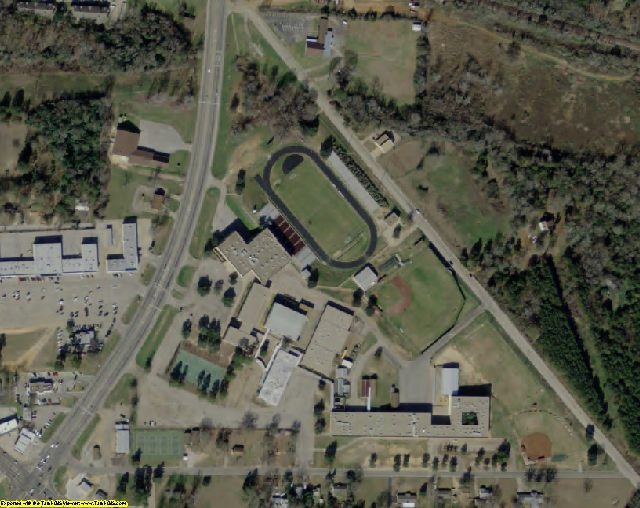 Anderson County, TX aerial photography detail