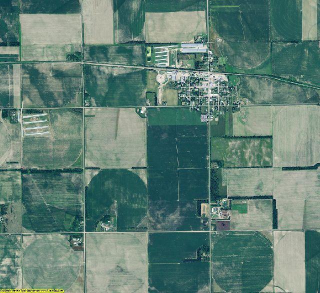 Antelope County, Nebraska aerial photography