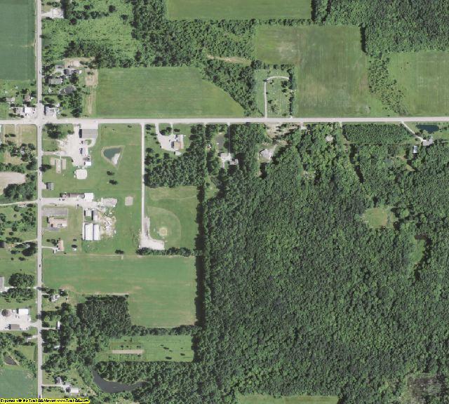 Ashtabula County, OH aerial photography detail