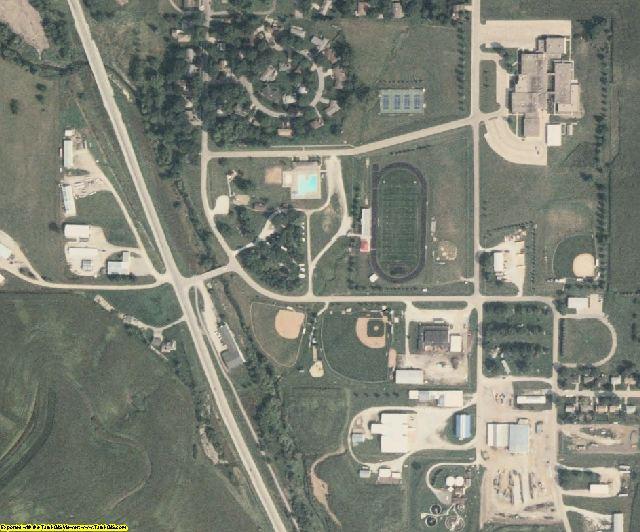 Audubon County, IA aerial photography detail
