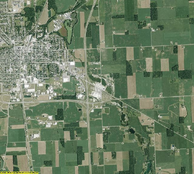 Auglaize County, Ohio aerial photography