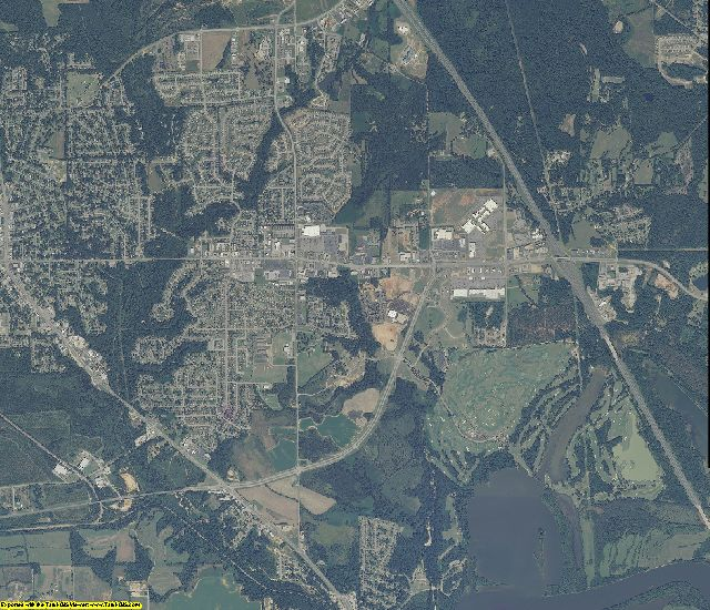 Autauga County, Alabama aerial photography