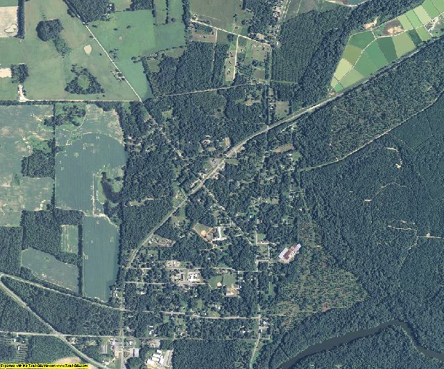 Baker County, Georgia aerial photography