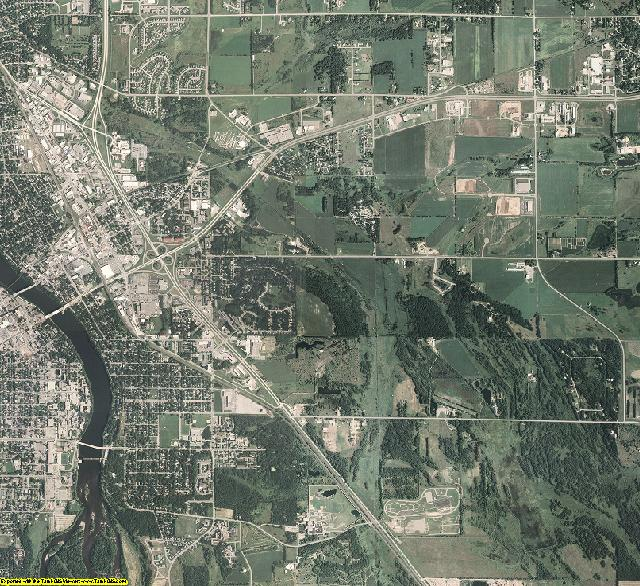 Benton County, Minnesota aerial photography