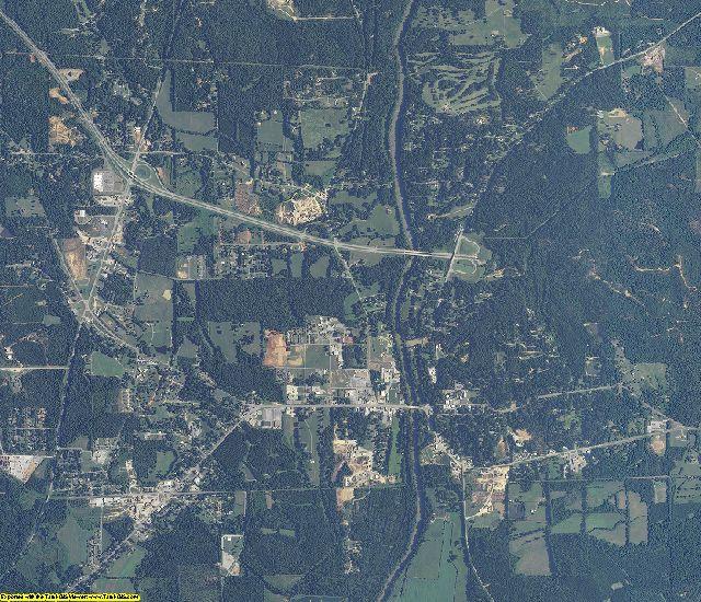 Bibb County, Alabama aerial photography