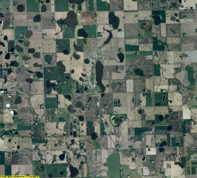 Big Stone County, Minnesota aerial photography