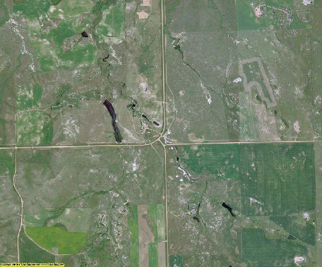 Billings County, North Dakota aerial photography