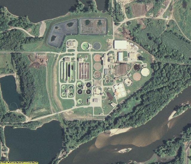 Black Hawk County, IA aerial photography detail
