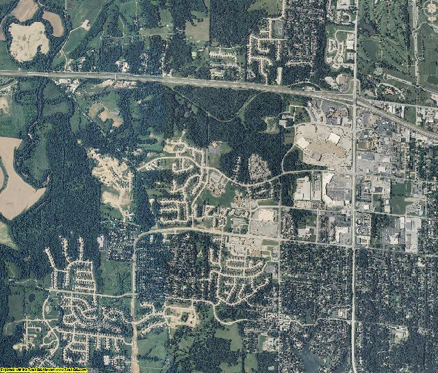 Boone County, Missouri aerial photography