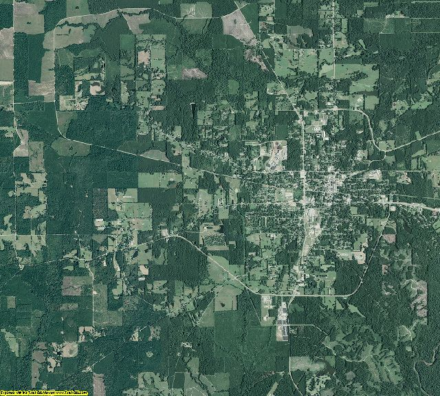 Bradley County, Arkansas aerial photography