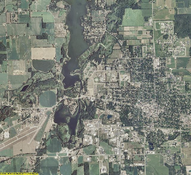 Branch County, Michigan aerial photography