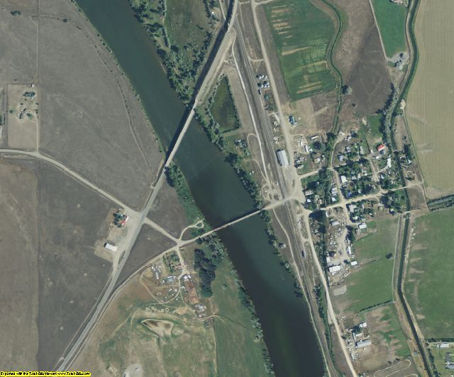 Broadwater County, MT aerial photography detail