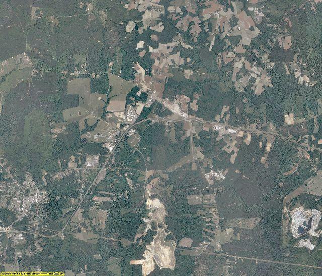 Brunswick County, Virginia aerial photography