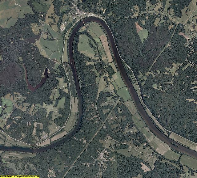 Buckingham County, Virginia aerial photography