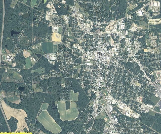 Bulloch County, Georgia aerial photography