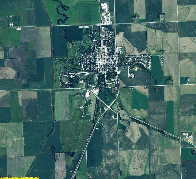 Burt County, Nebraska aerial photography