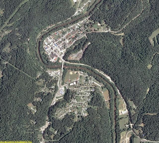 Calhoun County, West Virginia aerial photography