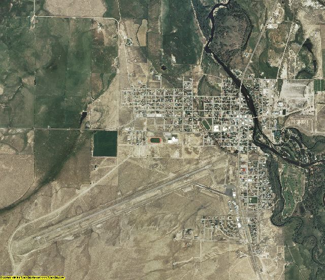 Carbon County, Wyoming aerial photography