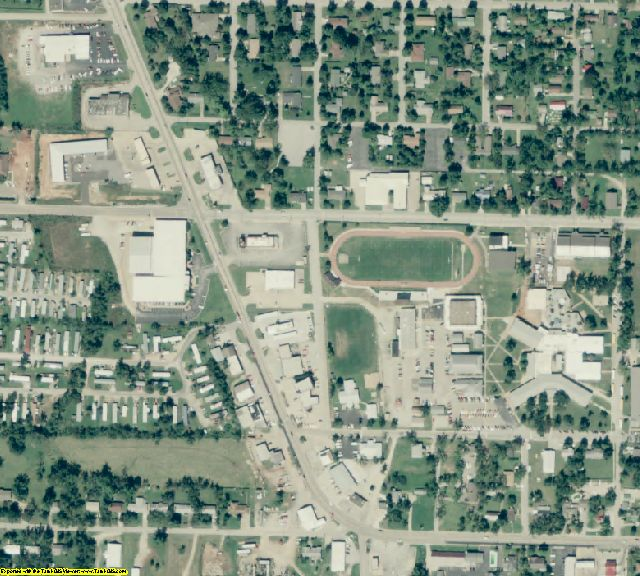 Carroll County, AR aerial photography detail