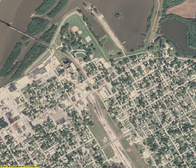 Cass County, IL aerial photography detail