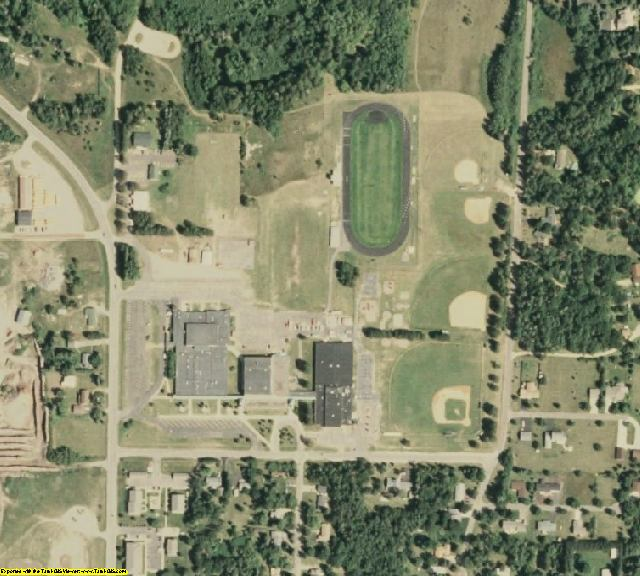 Cass County, MN aerial photography detail