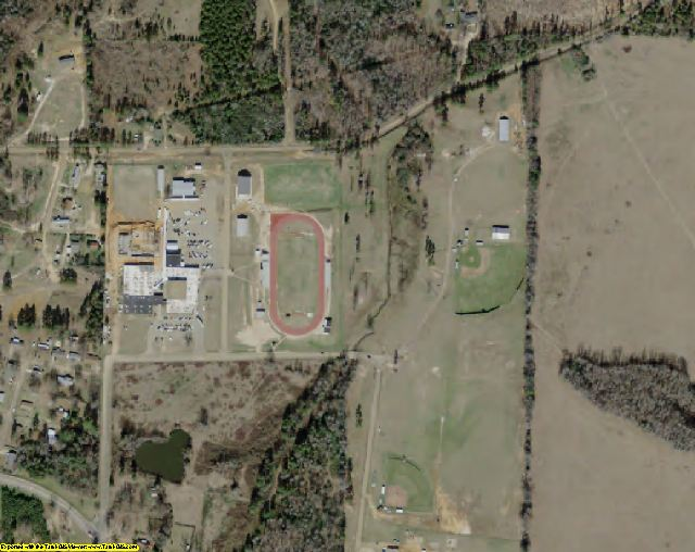 Cass County, TX aerial photography detail
