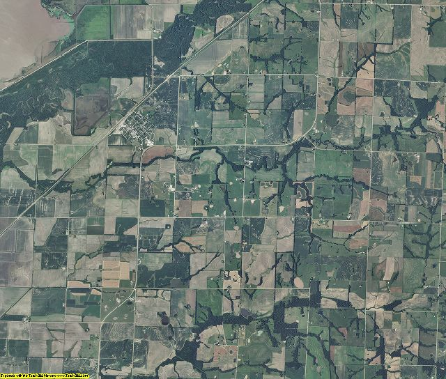 Chariton County, Missouri aerial photography