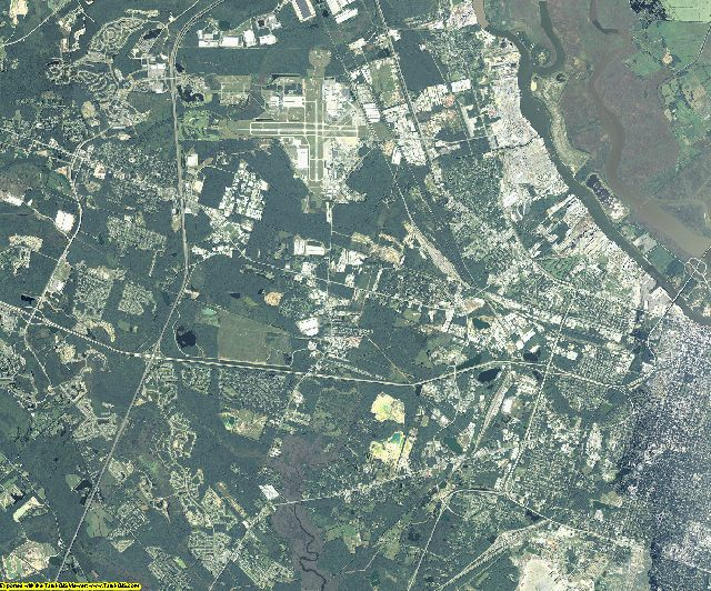 Chatham County, Georgia aerial photography