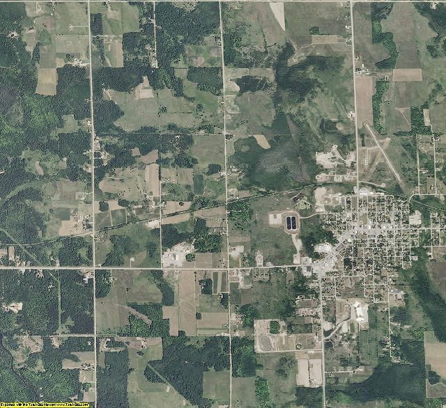 Cheboygan County, Michigan aerial photography