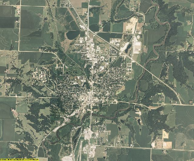 Cherokee County, Iowa aerial photography