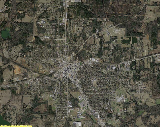 Cherokee County, Texas aerial photography
