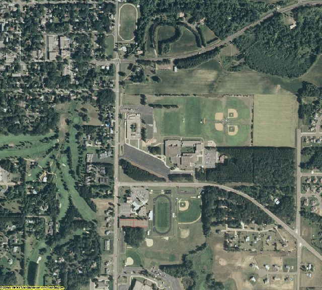 Chisago County, MN aerial photography detail