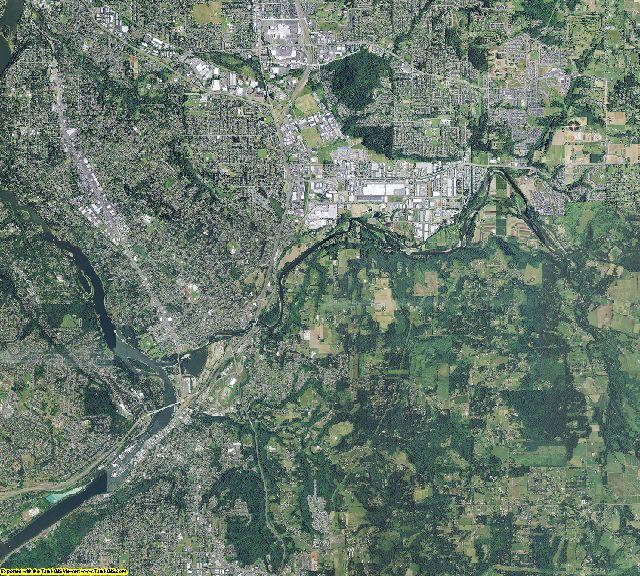 Clackamas County, Oregon aerial photography