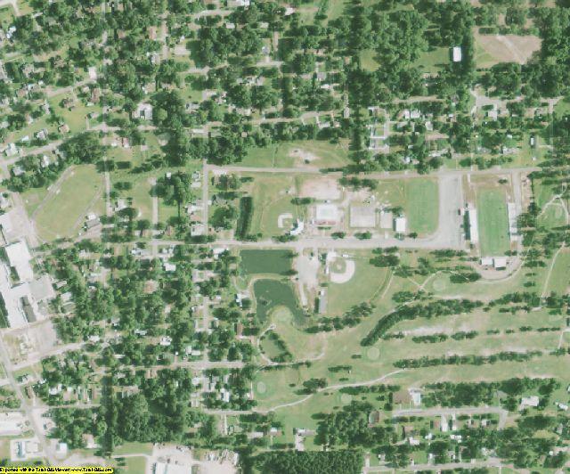 Claiborne County, LA aerial photography detail