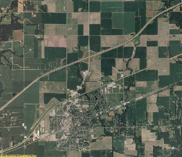 Clark County, Illinois aerial photography