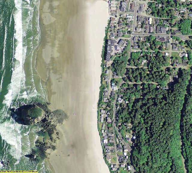 Clatsop County, OR aerial photography detail