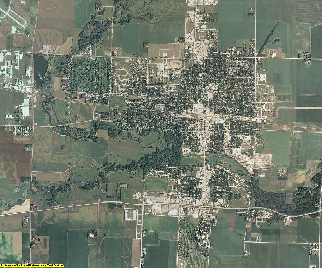 Clay County, Iowa aerial photography
