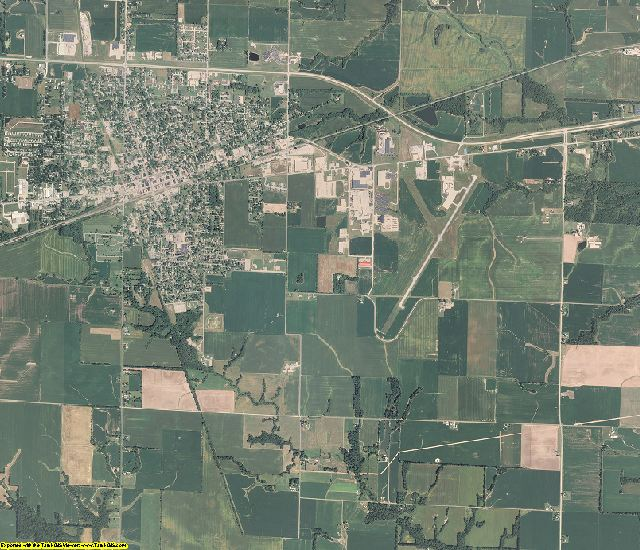 Clay County, Illinois aerial photography