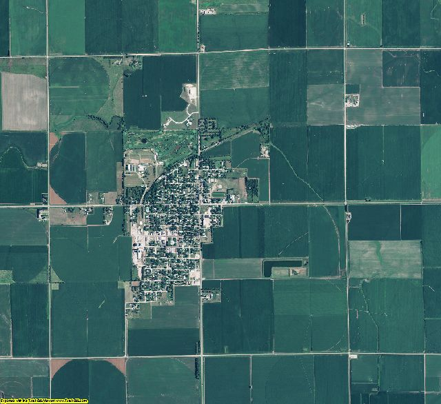 Clay County, Nebraska aerial photography