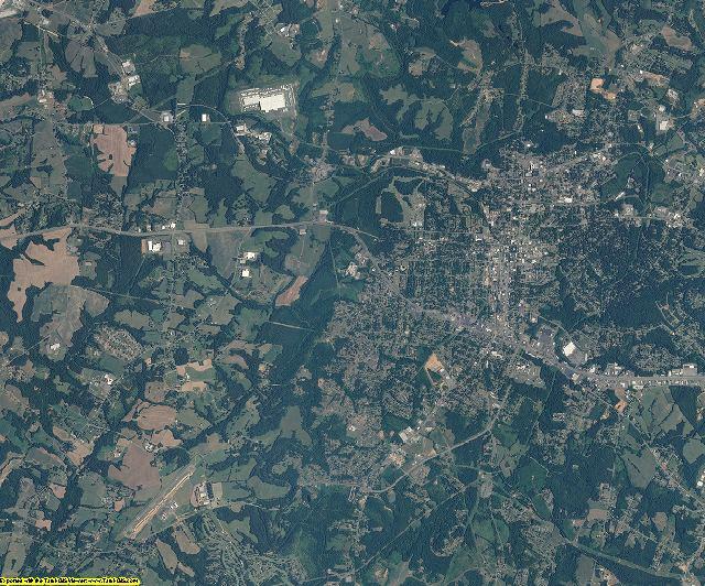 Cleveland County, North Carolina aerial photography