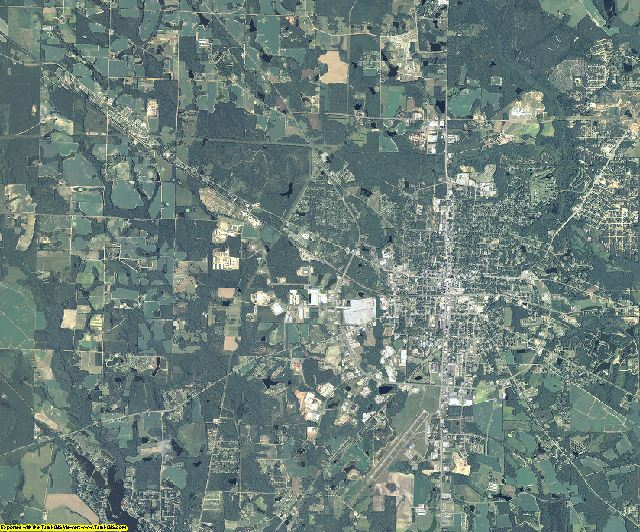 Coffee County, Georgia aerial photography