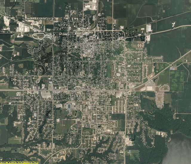 Coles County, Illinois aerial photography