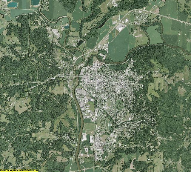 Coshocton County, Ohio aerial photography