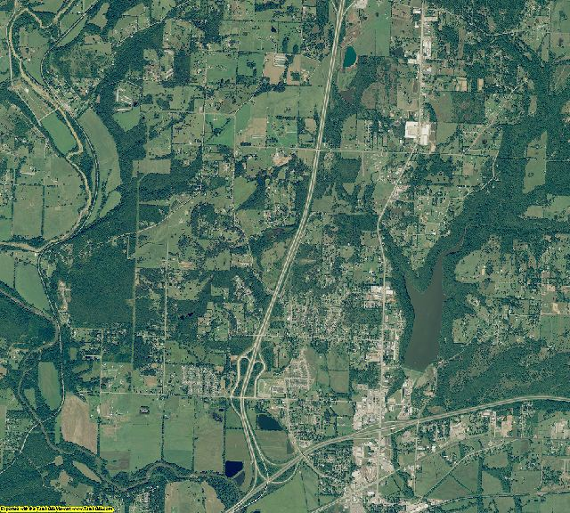Crawford County, Arkansas aerial photography