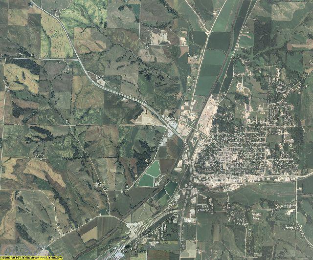 Crawford County, Iowa aerial photography