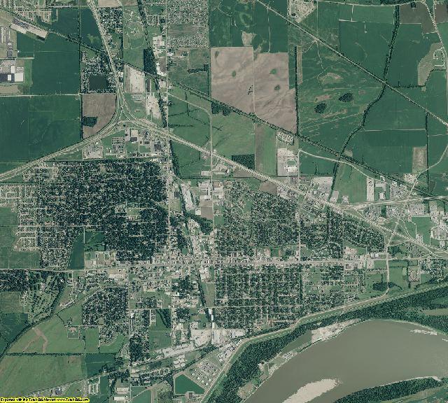Crittenden County, Arkansas aerial photography