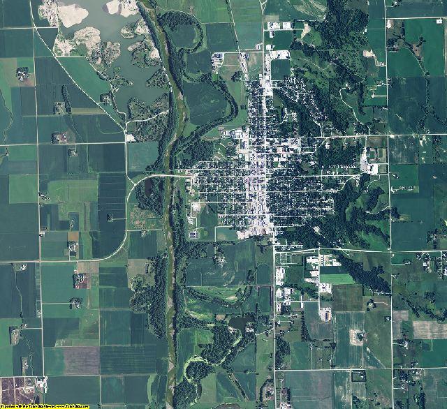 Cuming County, Nebraska aerial photography
