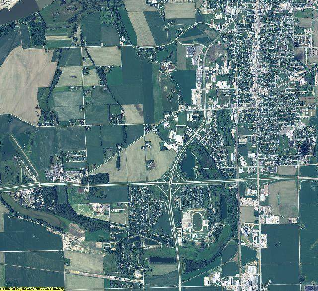 Dakota County, Nebraska aerial photography