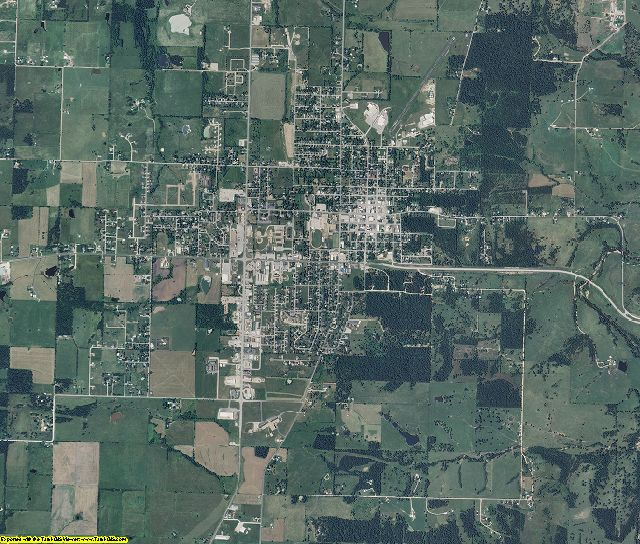 Dallas County, Missouri aerial photography